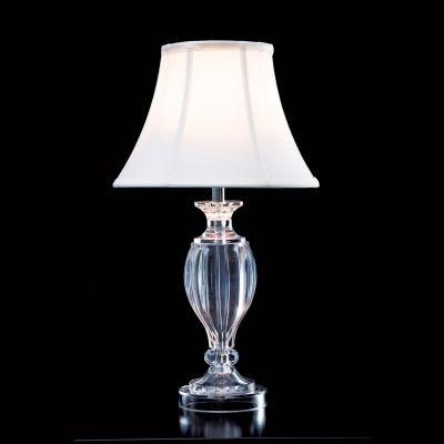 Abajur Bella Iluminação Lik Acrílico Cupula Tecido Cru Branco Ø44cm 1 E27 110v 220v Bivolt HU3007 Mesa Jantar  Criados-Mudos