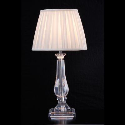Abajur Bella Iluminação Lik Acrílico Cupula Tecido Plissado Branco Ø44cm 1 E27 110v 220v Bivolt HU3004 Mesa Jantar  Criados-Mudos