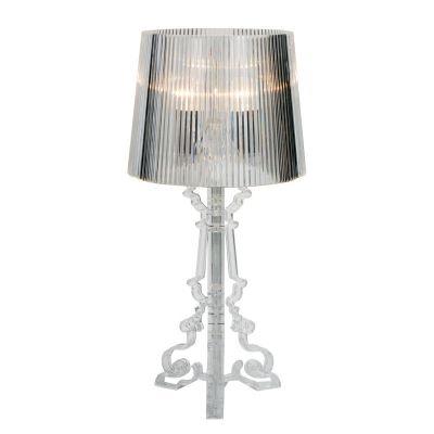 Abajur Bella Star Decorativo Acrílico Cupula Transparente 50x23cm  1 E14 Bivolt EA800S Mesas e Cabeceiras