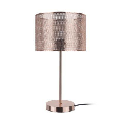 Abajur Bella Iluminação Telinha Metal Cobre Cupula Redonda 48x26cm 1 E-27 110v 220v Bivolt CI010B Sala Estar Quartos