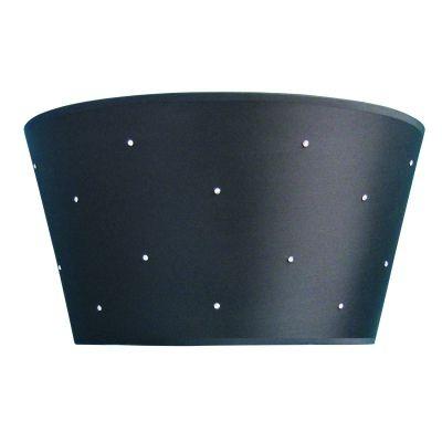 Arandela Bella Iluminação Aco Tecido Preto Cristal K9 Translucido 40x22cm 2 E27 110v 220v Bivolt HU1059 Quartos Corredores