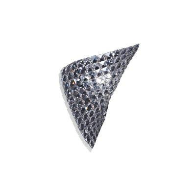 Arandela Bella Iluminação Arraia Aço Metal Cristal K9 Translucido 36x30cm 1 G9 Halopin HO1338W Corredores Lavabos