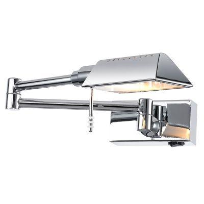 Arandela Bella Iluminação Articulada Mira Metal Cromo 10x12cm 1 G9 Halopin 110v 220v Bivolt MG015 Escritórios Mesa Jantar