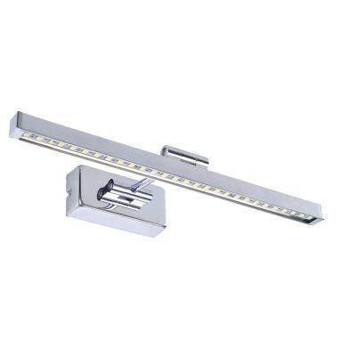 Arandela Bella Iluminação Blum Calha Espelho Aço Inox Cromada 5,5x30cm 1 LED 5W JH501 Espelhos Lavabos