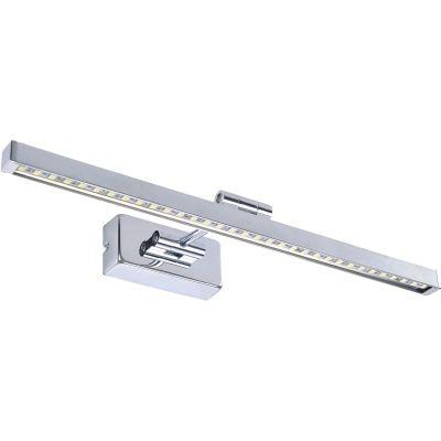 Arandela Bella Iluminação Blum Calha Espelho Aço Inox Cromada 5,5x46cm 1 LED 8W JH502 Espelhos Lavabos