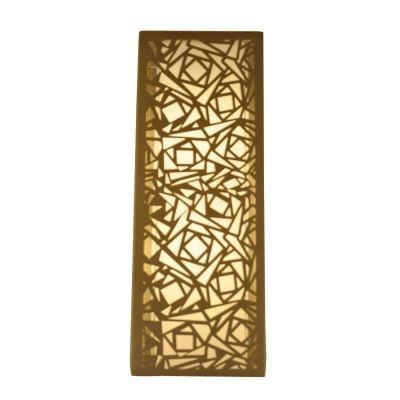 Arandela Bella Iluminação Camurça Metal Bege Linear Quadrado 60x22cm 2 E27 110v 220v Bivolt HU5026A Saguão Quartos