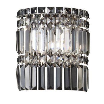 Arandela Bella Iluminação Charm Cristal K9 Lapidado Translucido 24x22cm 2 G9 Halopin 110v 220v Bivolt HU5018 Corredores Sala Estar
