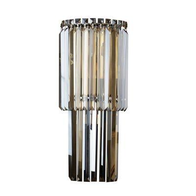 Arandela Bella Iluminação Charm Linear Cristal K9 Âmbar 60x25cm 3 G9 Halopin 110v 220v Bivolt HU5019A Corredores Sala Estar