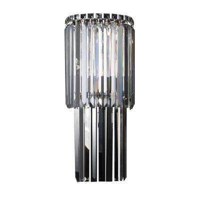 Arandela Bella Iluminação Charm Linear Cristal K9 Translucido 60x25cm 3 G9 Halopin 110v 220v Bivolt HU5019 Corredores Sala Estar