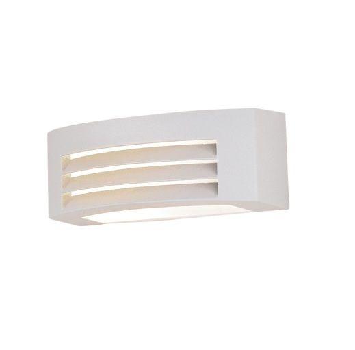 Arandela Bella Iluminação Externa Ali Horizontal Metal Branco 13x29cm 1 E27 110v 220v Bivolt LX5491W Muros Jardins