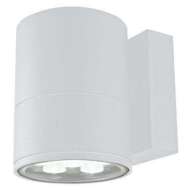 Arandela Bella Iluminação Externa Block Metal Branco 14,5x11cm 1 LED 6W 110v 220v Bivolt LX1041W Muros Jardins