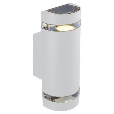 Arandela Bella Iluminação Externa Trace Metal Branco 10,5x10cm 2 GU10 Dicróica LX7182W Saguão Muros