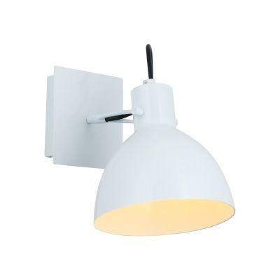 Arandela Bella Iluminação Haus Sino Regulavel Metal Branco 19x16cm 1 E27 40W 110v 220v Bivolt OP052W Escritórios Mesa Jantar