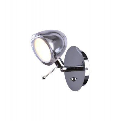 Arandela Bella Iluminação Interna Metal Vidro Cromo 10x11cm 1 G9 Halopin 40w AR004CR Corredores Mesa Jantar