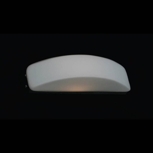 Arandela Bella Iluminação Moon Curva Vidro Branco Aço Cromo 12x55cm 4 G9 Halopin 110v 220v Bivolt ZD3004 Sala Estar Quartos