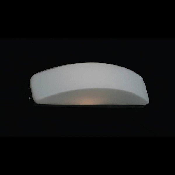 Arandela Bella Iluminação Moon Curva Vidro Branco Aço Cromo 8x17cm 1 G9 Halopin 110v 220v Bivolt ZD3001 Sala Estar Quartos
