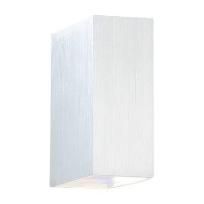 Arandela Bella Iluminação Sobrepor Brick Ret Metal Escovado 15x5cm 1 G9 Halopin 110v 220v Bivolt W1904S Sala Estar Quartos