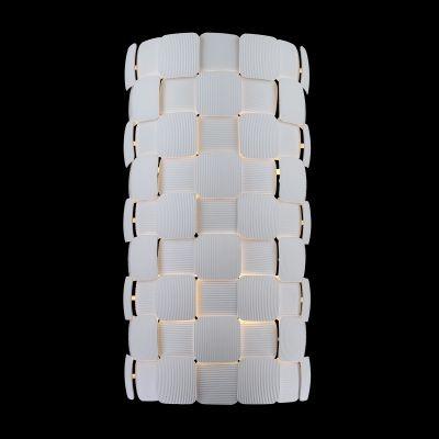 Arandela Bella Iluminação Vega Policarbonato Acrílico Tubo Branco 61x32cm 2 E27 110v 220v Bivolt HO111 Corredores Hall