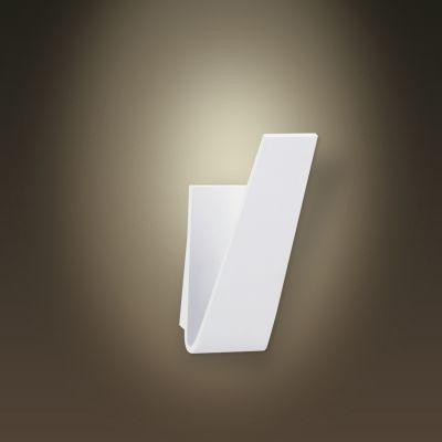 Arandela Bella Iluminação Linear Fine LED Metal Branco 10x19cm 1 LED 6W LZ001 Corredores Saguão