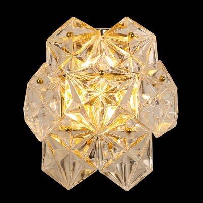Arandela Bella Iluminação Zara Cobre Vidro Translucido 26x24,5cm 2 G9 Halopin 110v 220v Bivolt BM005B Corredores Lavabos