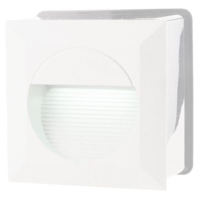 Balizador Bella Iluminação Embutir Dash Quadrado LED Metal 7,5x12,5cm 1 LED 6W 110v 220v Bivolt LX9642 Quartos Lavabos