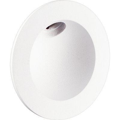 Balizador Bella Iluminação Embutir Note LED Redondo Metal 8x2,6cm 1 LED 2W 110v 220v Bivolt LZ056 Quartos Varandas