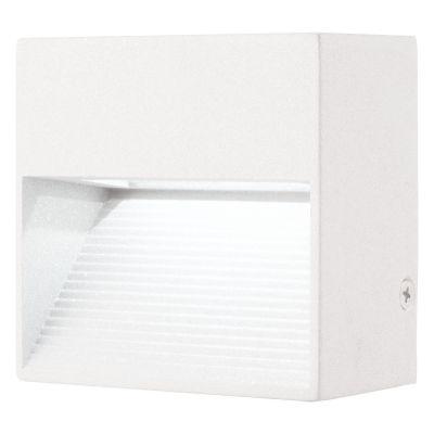 Balizador Bella Iluminação Interno Dash Sobrepor Quadrado LED 5x8cm 1 LED 2W 110v 220v Bivolt LX1222 Quartos Lavabos