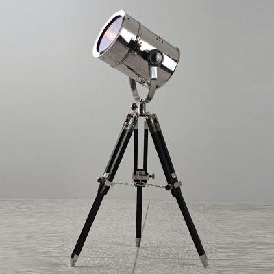 Coluna Bella Iluminação Luminária de Chão Cine Metal Madeira Preto 80x16,5cm 1 E14 110v 220v Bivolt EA018B Sala Estar Quartos