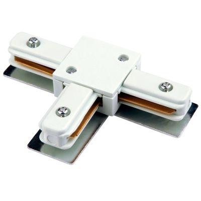 Conector Bella Iluminação T para Trilho Metal Branco DL025B