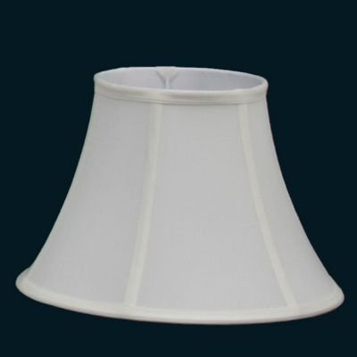 Cupula Bella Iluminação Red Abajur Cone Redonda Tecido Branco Cru 30x22cm HU013