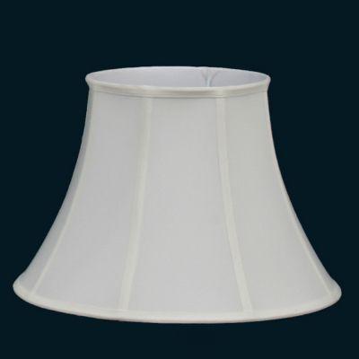 Cupula Bella Iluminação Red Abajur Cone Redonda Tecido Branco Cru 38x28cm HU012