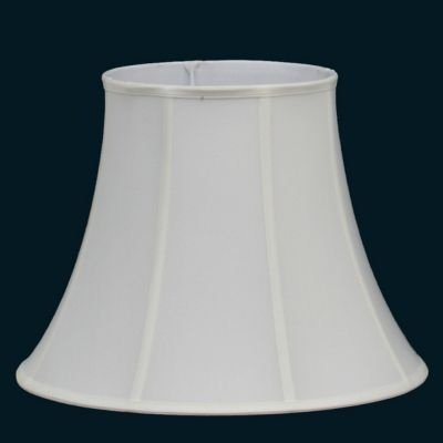 Cupula Bella Iluminação Red Abajur Cone Redonda Tecido Branco Cru 42x33cm HU011