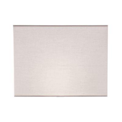 Cupula Bella Iluminação Retangular Tecido Branco 30x40cm EX2219 Abajur