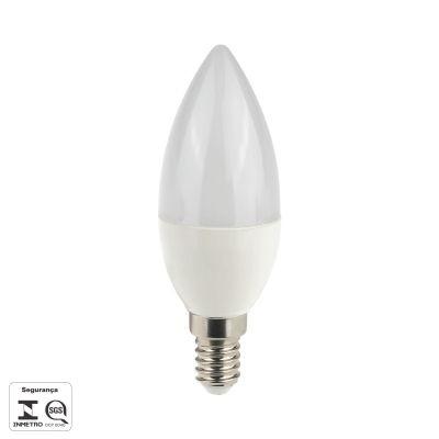 Lampada Bella Iluminação LED E14 Vela 4,5W Lisa Fosca Branca 110v 220v Bivolt LP016C