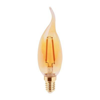 Lampada Bella Iluminação Vela Chama Filamento LED E14 2,5W 110v 220v Bivolt LP172