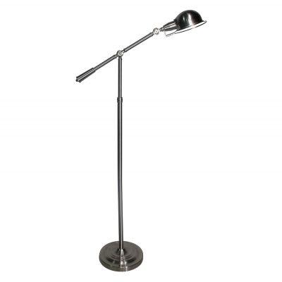 Luminária Bella Iluminação de Chão Articulada Metal Cromo 164x25cm 1 E27 110v 220v Bivolt LU006A Sala Estar Quartos