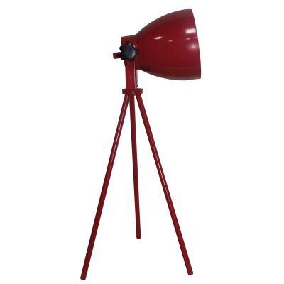 Luminária Bella Iluminação de Mesa Aço Vermelho Regulavel 55x19cm 1 E27 110v 220v Bivolt LU007A Mesa Jantar  Escritórios