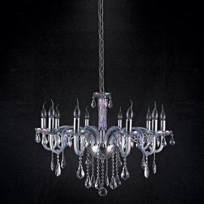 Lustre Bella Iluminação Candelabro Gallery Cristais Vidro Furta Cor 68x82cm 10 E14 110v 220v Bivolt YL5035 Sala Estar Hall