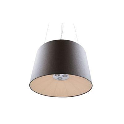 Pendente Bella Iluminação Aço Conico Contemporâneo Tecido Cinza 45x70cm 8 E27 220 Volts WD170B Quartos Cozinhas
