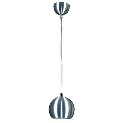 Pendente Bella Iluminação Bacino Esfera Suspenso Metal Escovado Ø15cm 1 E27 110v 220v Bivolt MH006A Saguão Cozinhas