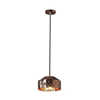 Pendente Bella Iluminação Brass Redondo Suspenso Metal Cobre 16x24cm 1 E27 110v 220v Bivolt JY006B Balcões Mesa Jantar