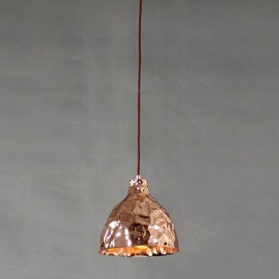 Pendente Bella Iluminação Brass Sino Suspenso Metal Cobre 25x25,5cm 1 E27 110v 220v Bivolt JY003B Saguão Balcões
