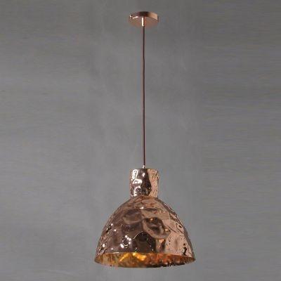 Pendente Bella Iluminação Brass Sino Suspenso Metal Cobre 35x35cm 1 E27 110v 220v Bivolt JY004B Saguão Balcões