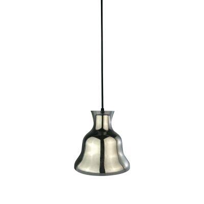 Pendente Bella Iluminação Bule Sino Metal Cromo Vidro Translucido 21x21cm 1 E-27 40W DA007C Cozinhas Sala Estar