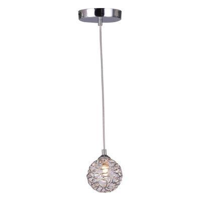 Pendente Bella Iluminação Capiz Aramado Esfera Metal Cromo Ø10cm 1x G9 Halopin 110v 220v Bivolt FO001S Sala Estar Saguão