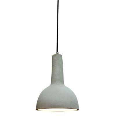 Pendente Bella Iluminação Cemento Concreto Cinza Sino Suspenso 27x19,5cm 1 E27 110v 220v Bivolt ID001 Balcões Mesa Jantar