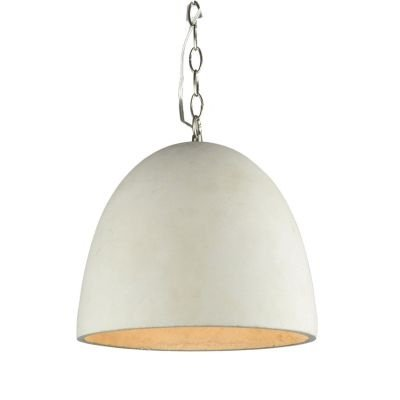 Pendente Bella Iluminação Concret Oval Concreto Suspenso Cinza 32x40cm 1 E27 110v 220v Bivolt ID003 Cozinhas Balcões