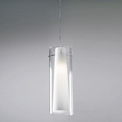 Pendente Bella Iluminação Due Tubo Suspenso Vidro Metal 34x12cm 1 E27 40W 110v 220v Bivolt VT1047 Cozinhas Balcões