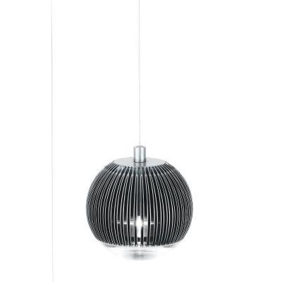 Pendente Bella Iluminação Esfera Strano Vidro Metal Prata 106x11,5cm 1 LED 2W 110v 220v Bivolt SU001 Sala Estar Saguão