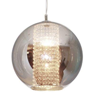 Pendente Bella Iluminação Fairy Esfera Aço Cristal K9 Vidro Cromo Ø30cm 1 E27 110v 220v Bivolt HU2084C Mesa Jantar  Cozinhas